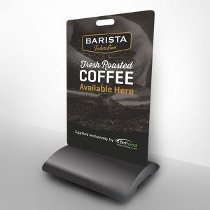 Barista Coffee Footpath Sign