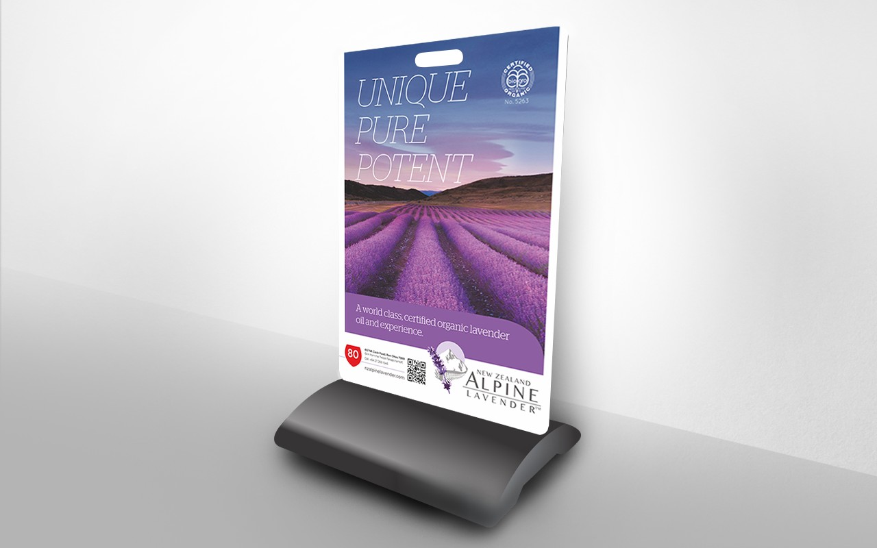 New Zealand Alpine Lavender Footpath Sign