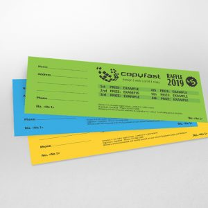 Raffle Tickets coloured-card