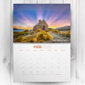 A3 Wall Calendar Wirebound